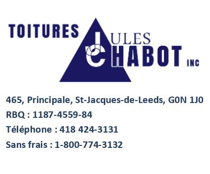 Toitures Jules Chabot - Entrepreneur en toiture en Beauce