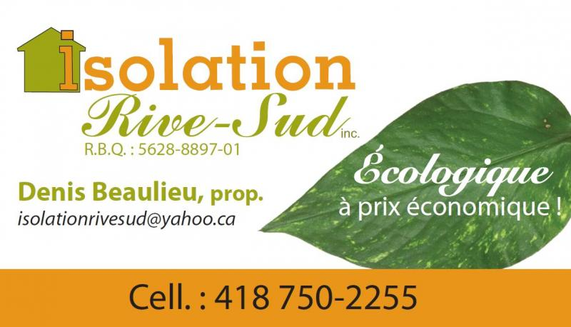 Isolation de la Rive-Sud inc. - Entrepreneur en isolation à Rimouski