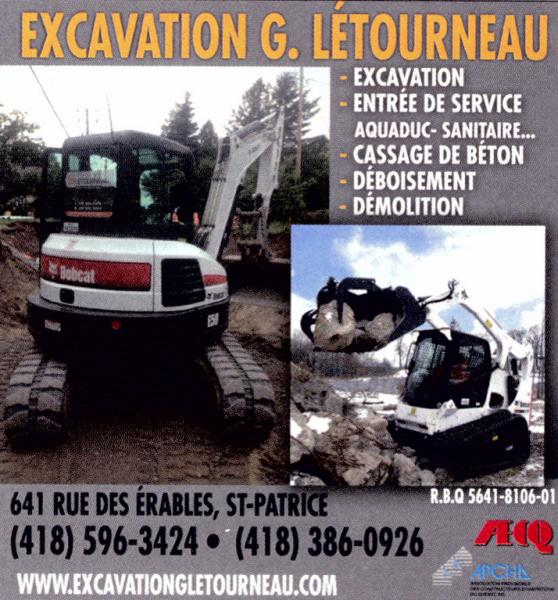 Excavation G. Letourneau