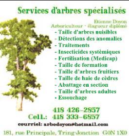 Services d'Arbres Spécialisés Etienne Doyon
